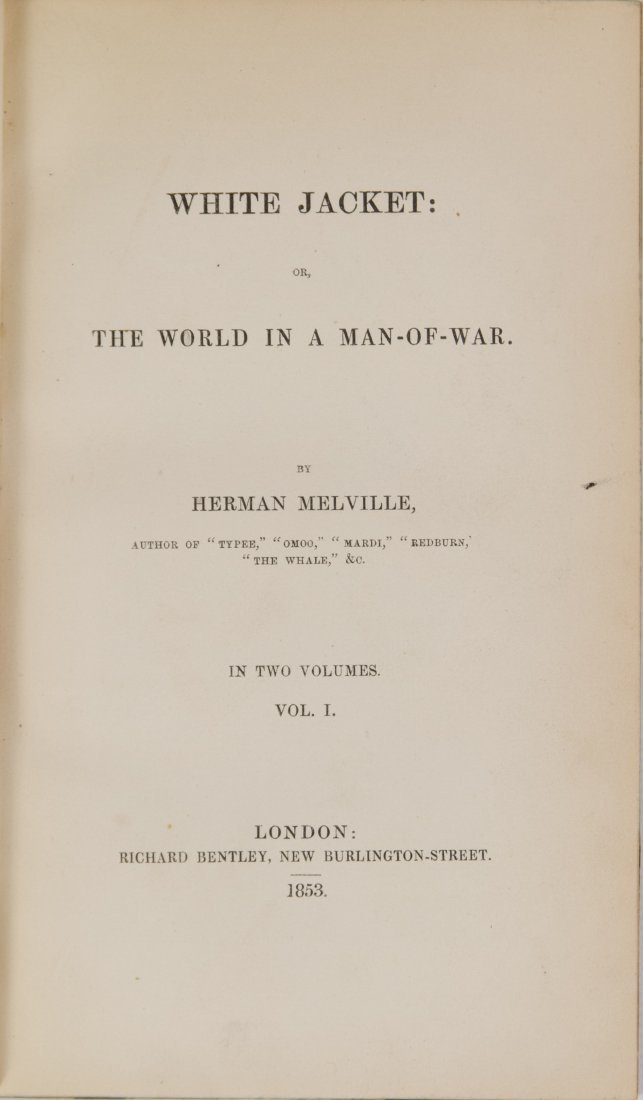 Herman Melville 'White Jacket' Two-Volume Book Set 1853 - 3