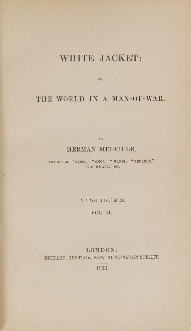 Herman Melville 'White Jacket' Two-Volume Book Set 1853 - 4