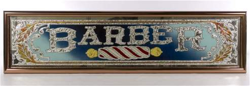 Glass Barber Wall Hanging Sign