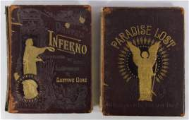 Books Dantes Inferno and Paradise Lost Illustrated by