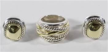 David Yurman 14k Gold and Sterling Silver Assortment