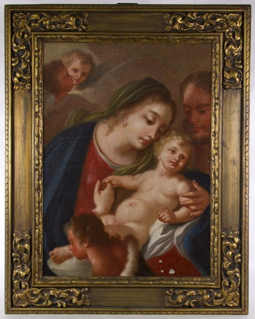 European School 'Madonna and Child' Oil on Canvas