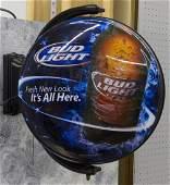Bud Light Rotating Advertising Sign