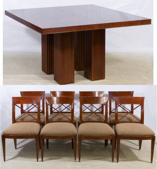 Baker 'Archetype' Dinning Table and Chairs
