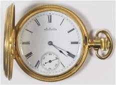 American Watch Co. 18k Gold Full Hunter Case Pocket