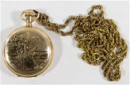 Illinois Elgin 14k Gold Full Hunter Case Pocket Watch