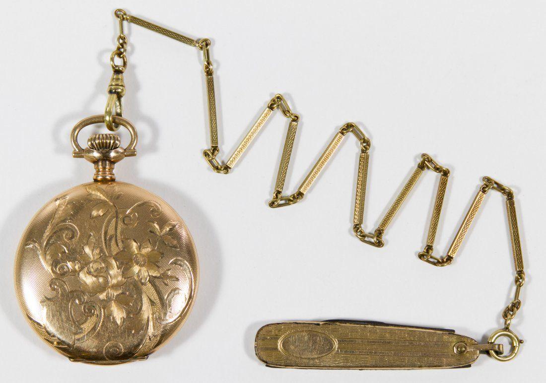 Elgin 14k Gold Filled Full Hunter Case Pocket Watch