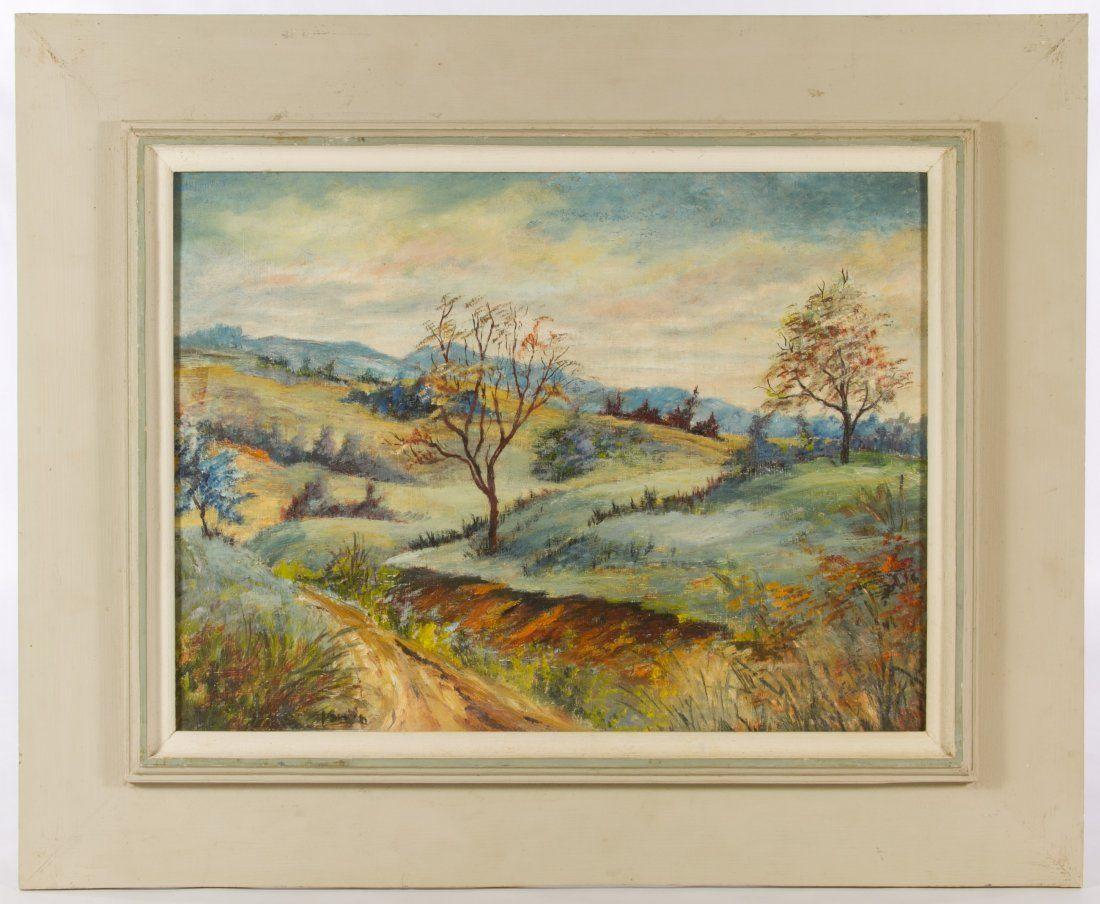 T. Smith (20th Century) 'Autumn Hills' Oil on Board