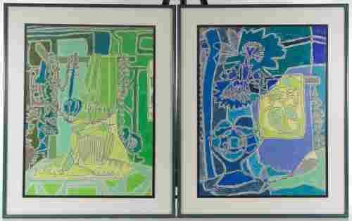 Tess Wilmot Jacks (American, 20th Century) Oil Crayon D