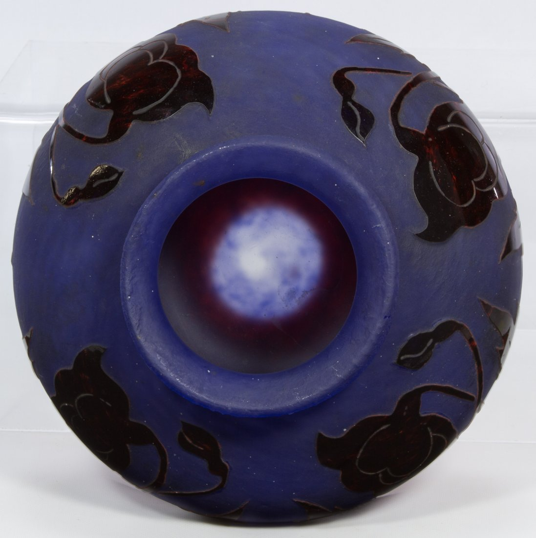 Degue Cameo French Glass Vase - 6