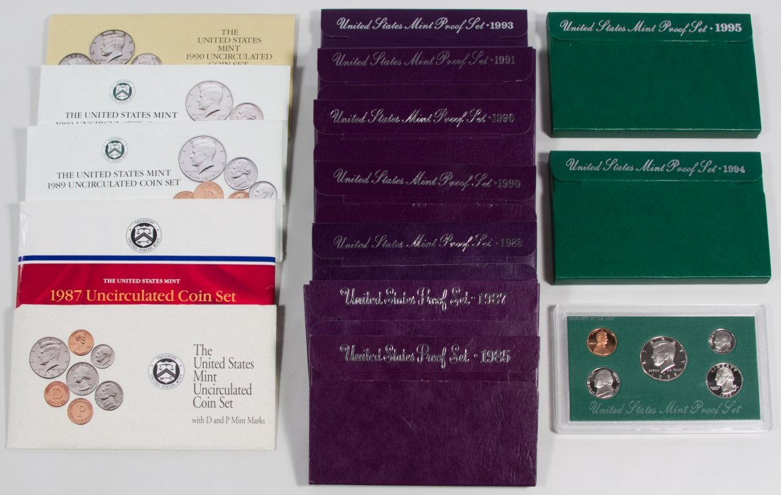 US Proof and Mint Set Assortment
