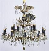 Crystal Electric Chandelier by Loevsky  Loevsky