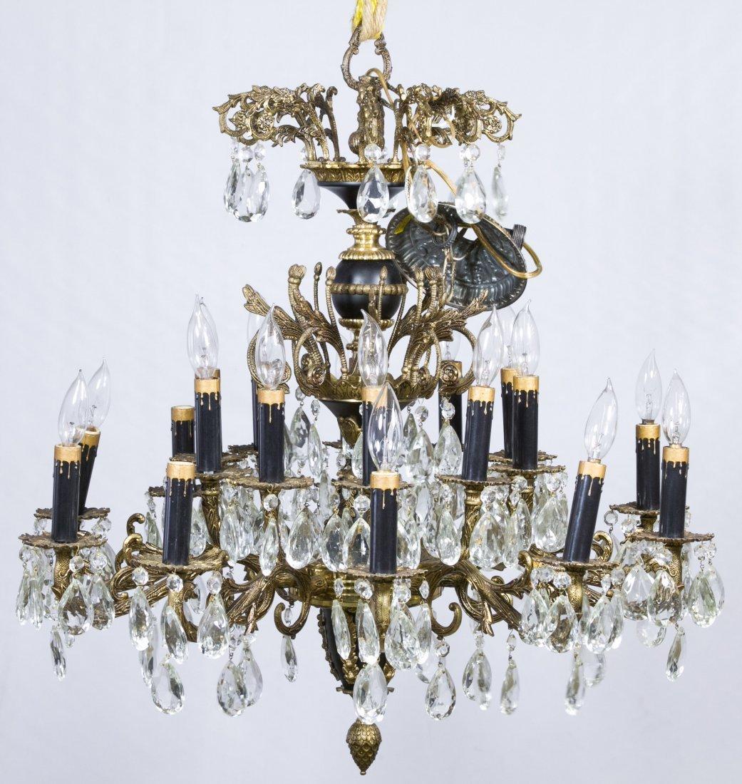 Crystal Electric Chandelier by Loevsky & Loevsky