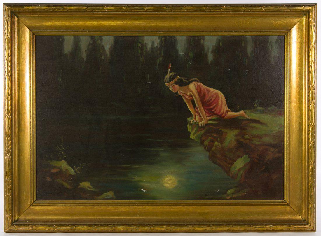 Unknown Artist (American, 20th Century) 'Indian Maiden'