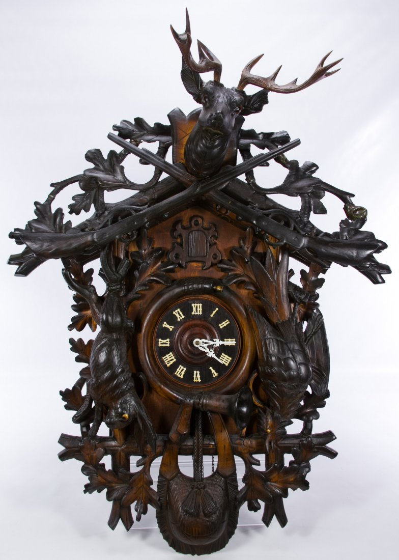 Black Forest Hunt Style Cuckoo Clock