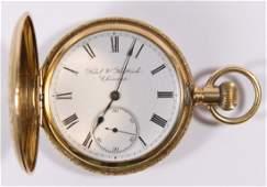 Elgin 14k Gold Full Hunting Case Pocket Watch