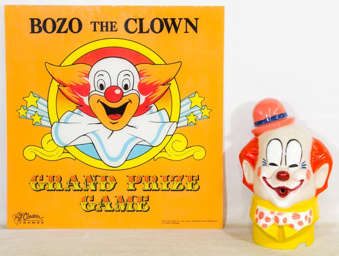 Bozo The Clown Grand Prize Game Sign by Cleaver