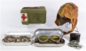 World War II to Korean War Pilot Accessory Assortment