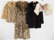 Fur Coat Stole and Hat Assortment