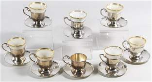 Lenox and Fisher Sterling Silver Demitasse Cup