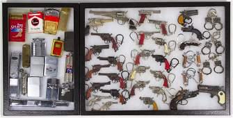 Lighters and Miniature Pistol Key Ring Assortment