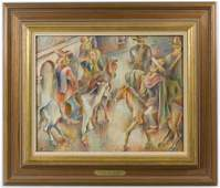 John Barber American 18981965 Mexican Rodeo Oil