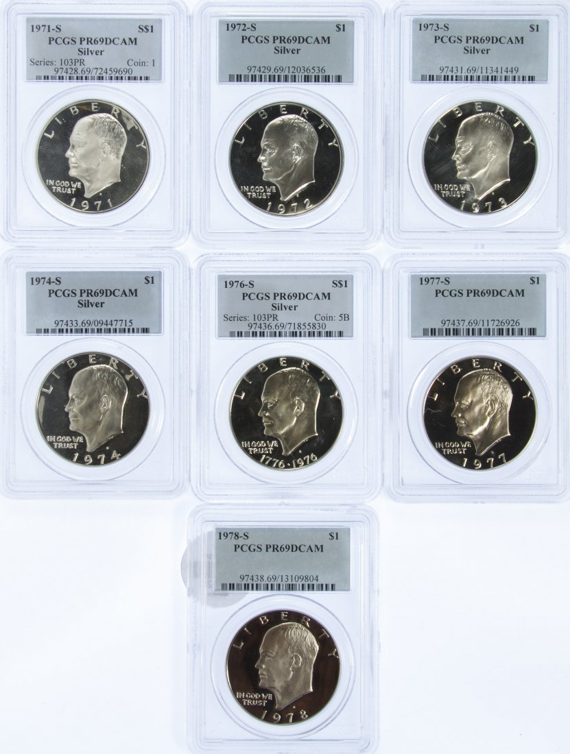 Eisenhower $1 Assortment PR-69 CAM PCGS
