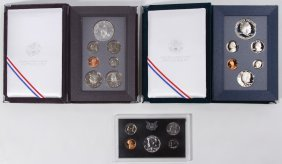 1989 And 1990 Prestige Proof Sets
