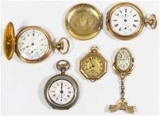 Gold Filled and (.800) Silver Watch Assortment