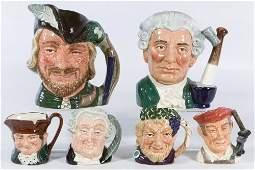 Royal Doulton Toby Mug Assortment