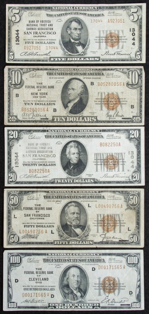 1929 National Currency Assortment