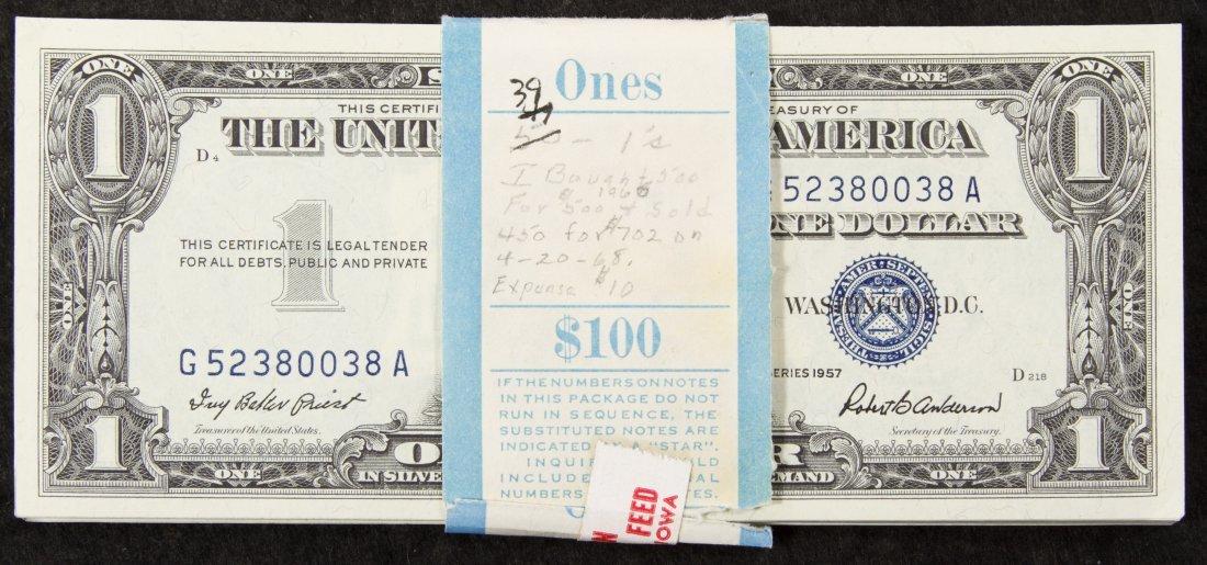1957 $1 Silver Certificate Assortment Unc.