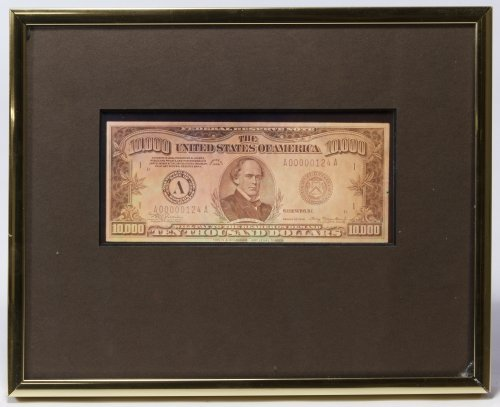 Hologram $10,000 Bill Print