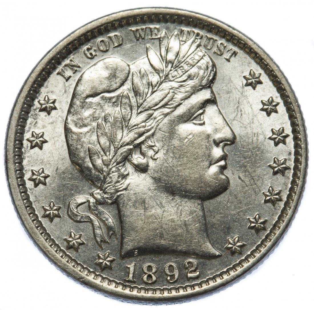 1892 Barber 25c MS-63