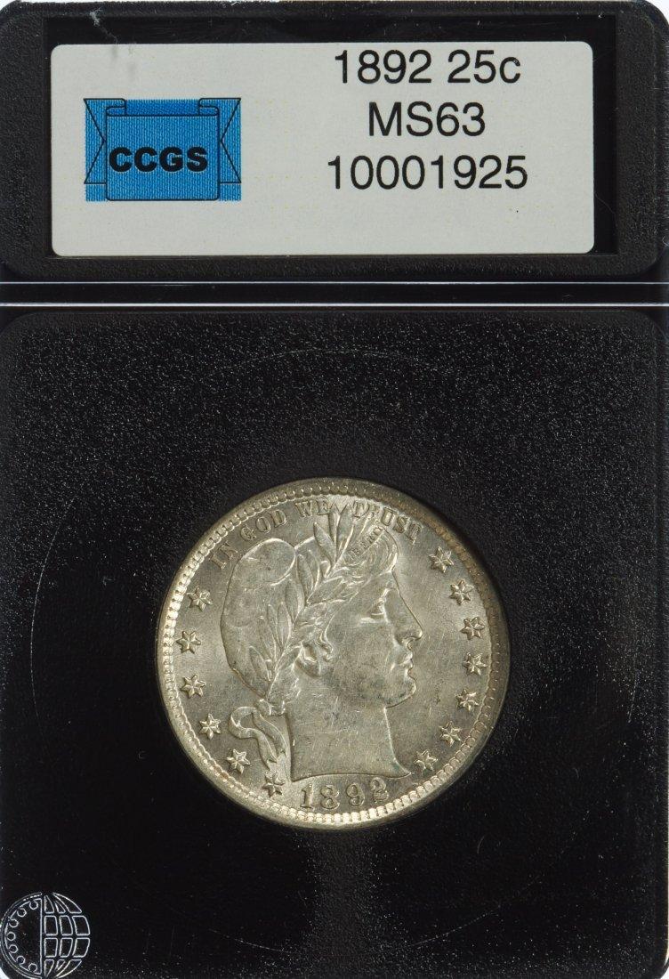 1892 25c Unc. Details