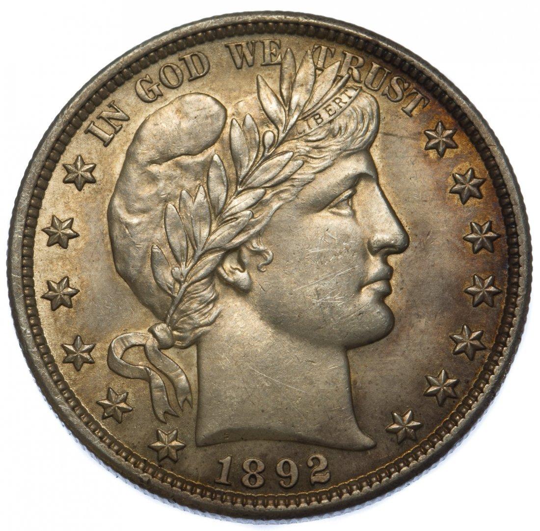 1892 Barber 50c Unc.