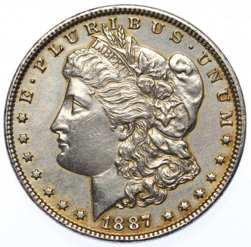 1887 $1 Unc. Details