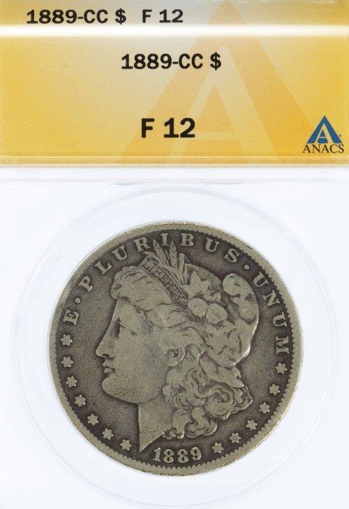 1889-CC $1 F-12 ANACS