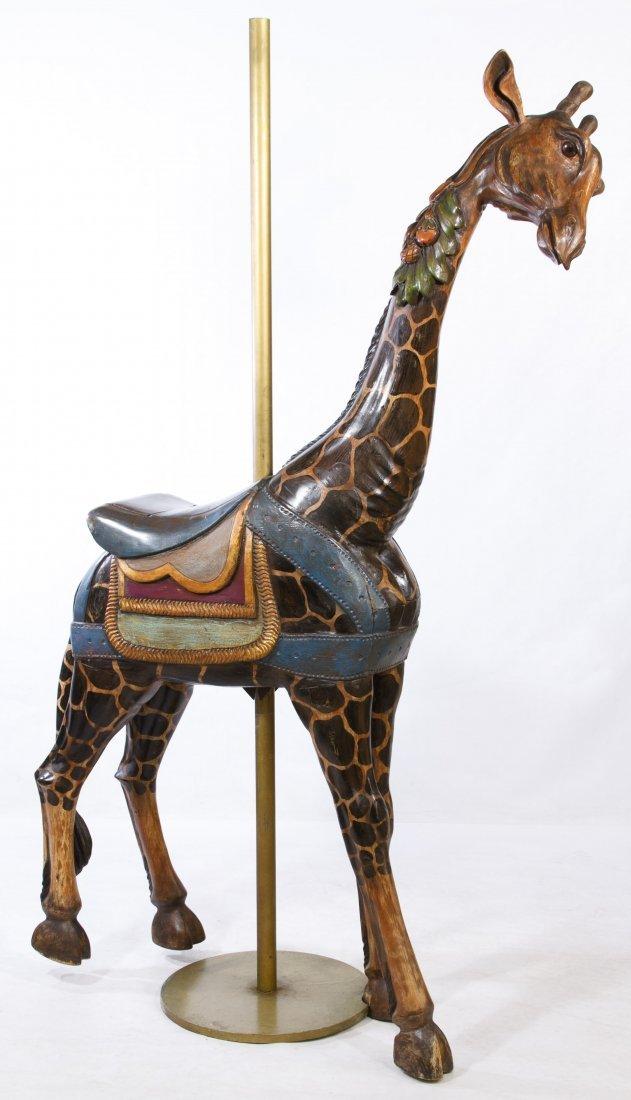 Carved Wood Carousel Giraffe