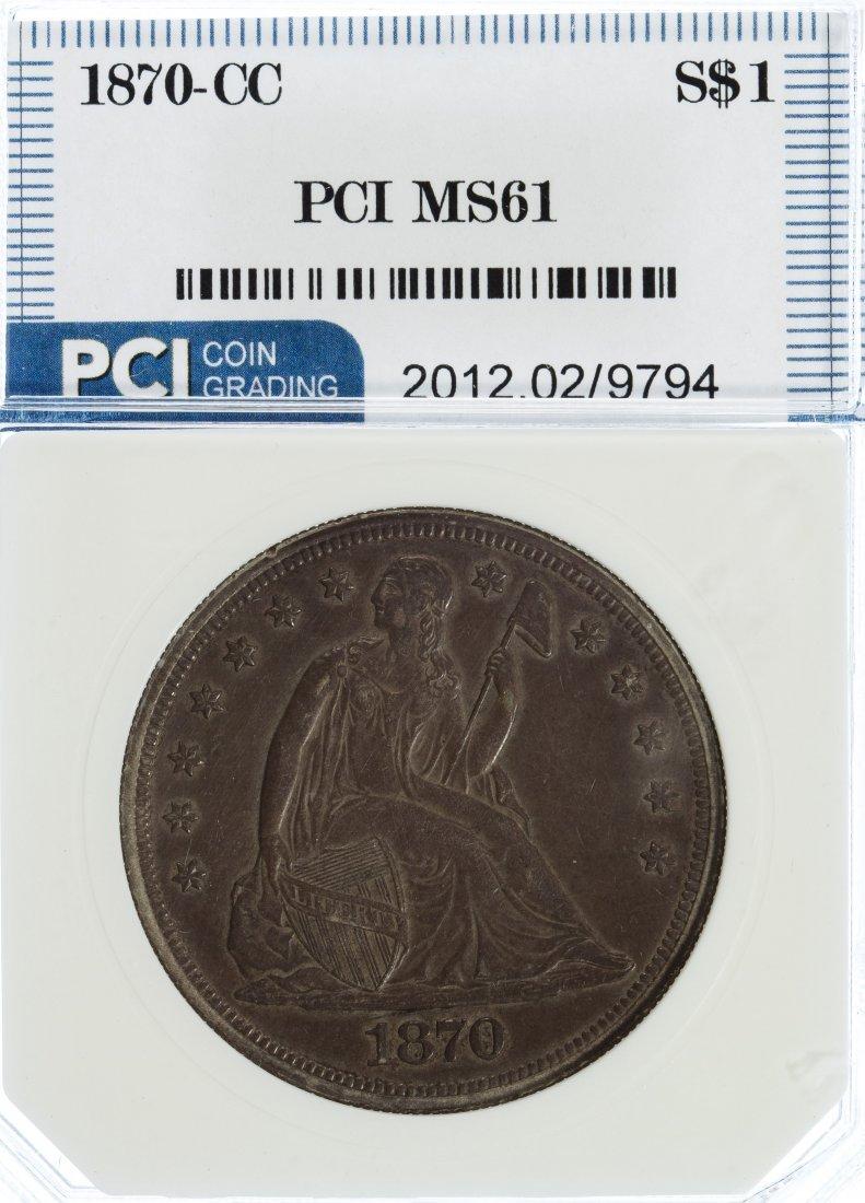1870-CC $1 MS-61 PCI