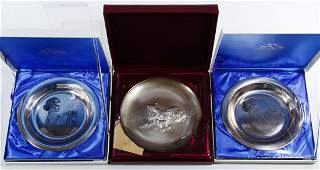 Franklin Mint and Lincoln Mint Sterling Silver Plate