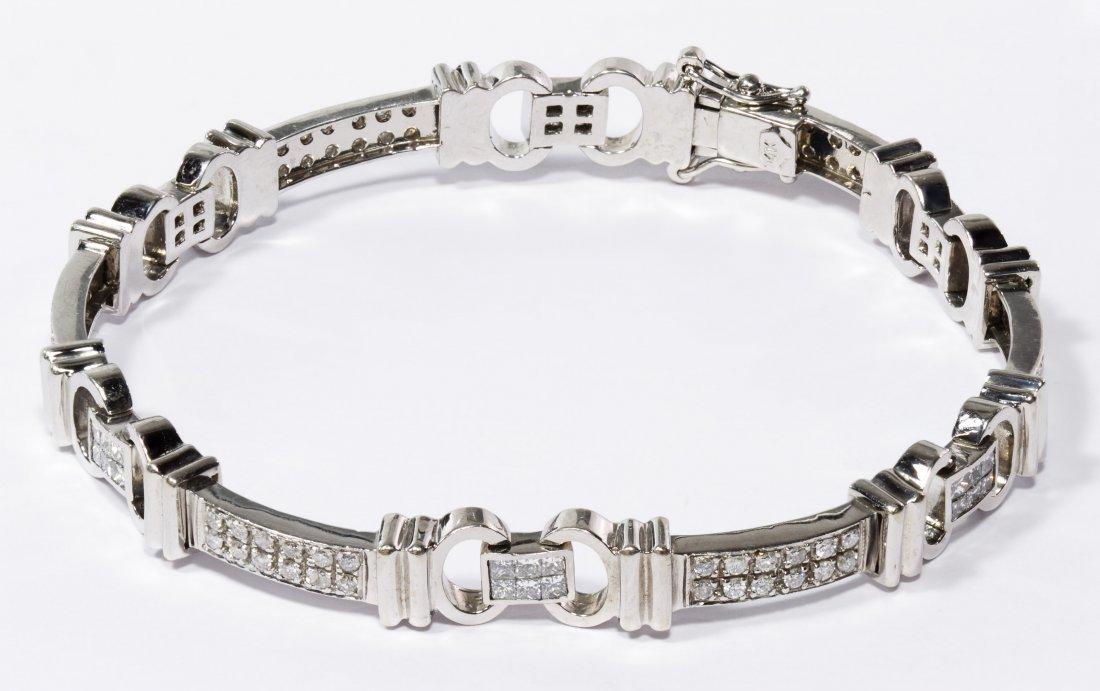 14k White Gold and Diamond Bracelet