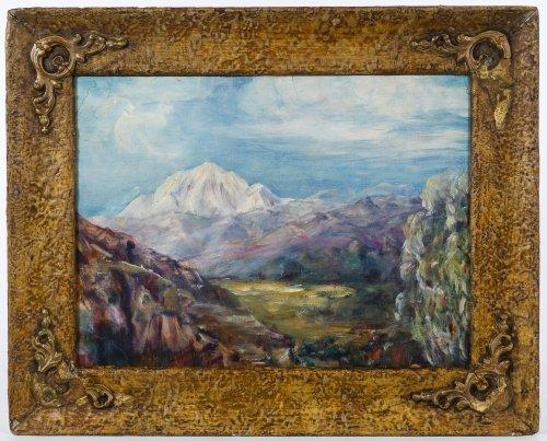 Julian Onderdonk (American, 1882-1922) 'Mountains' Oil