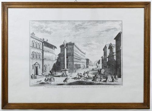 Giuseppe Zocchi (Italian, 1711-1767) 'Veduta di Lung
