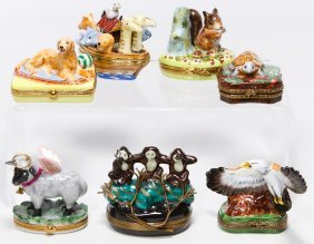 Limoges France Animal Trinket Box Assortment