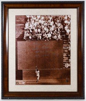 Willie Mays '1954 World Series' Signed Photo Print