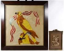 World War I Era Embroidery and Photograph