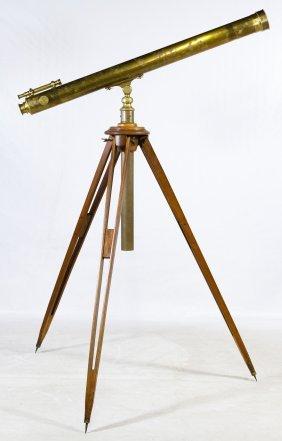 E Vion Brass Telescope And Tripod