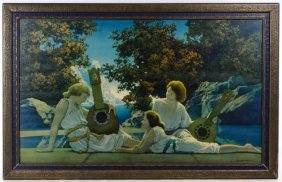 Maxfield Parrish (american, 1870-1966) 'lute Players'