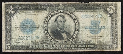1923 $5 'Porthole' Silver Certificate G